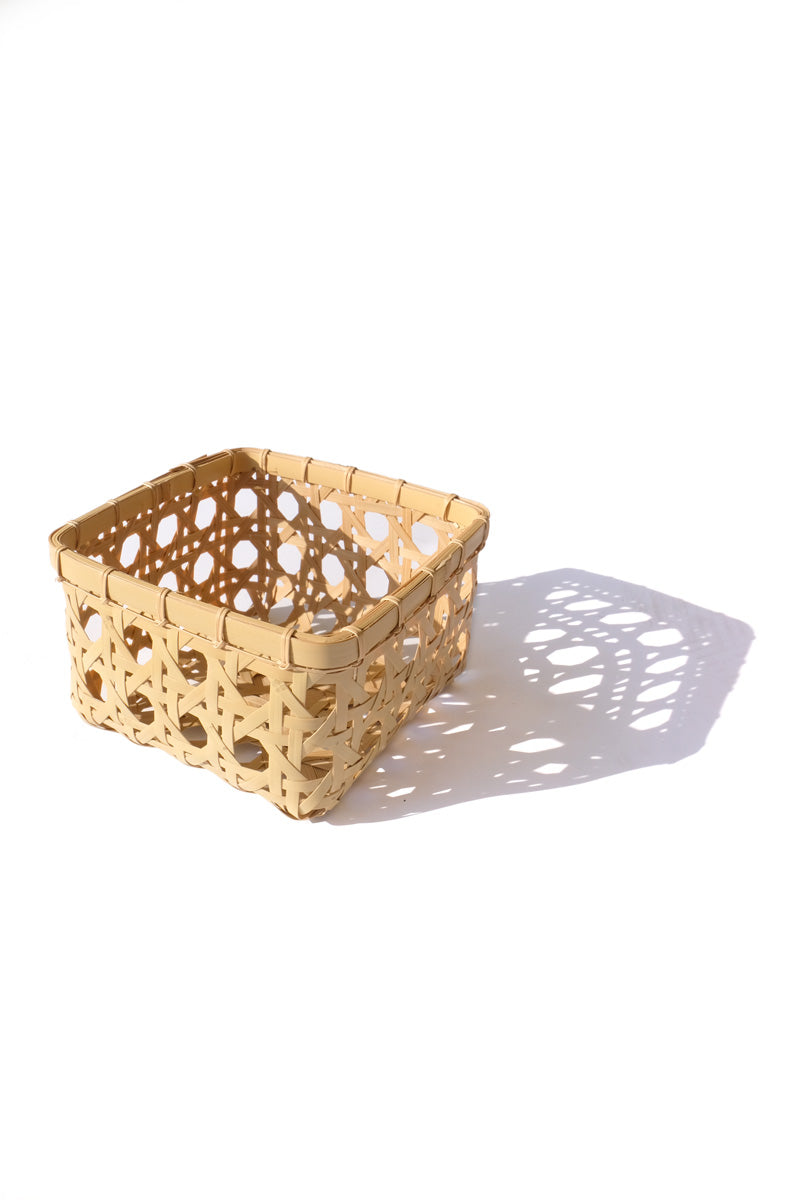 bamboo basket - square