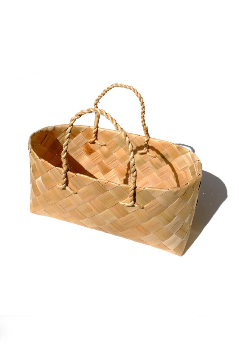 shell ginger woven basket - wide