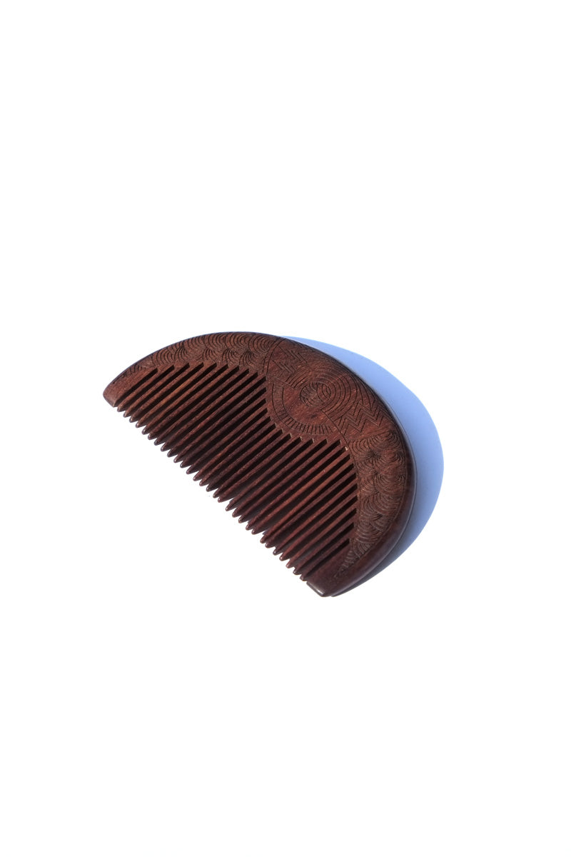 comb - walnut curve