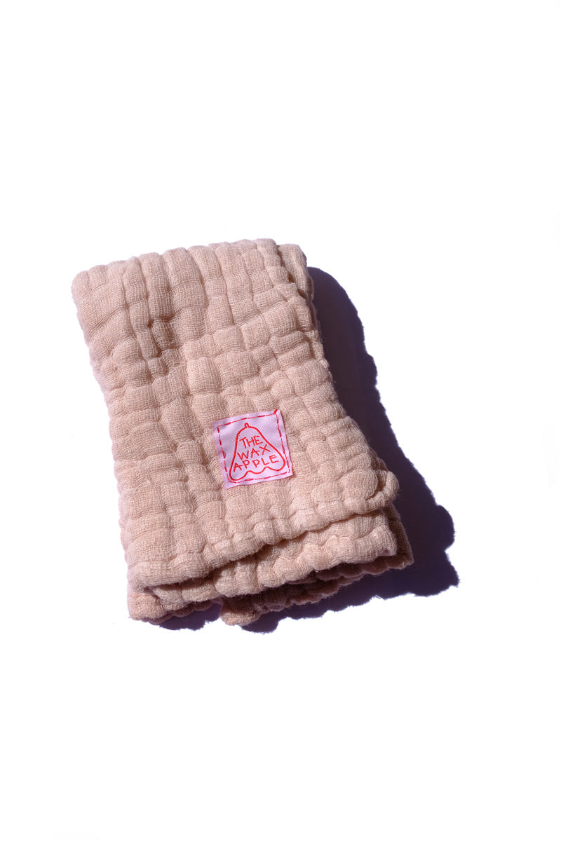 cotton gauze towel - blush