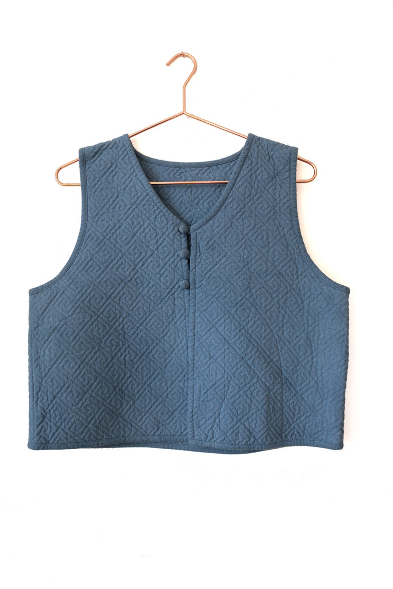 huichung - embroidered cropped vest