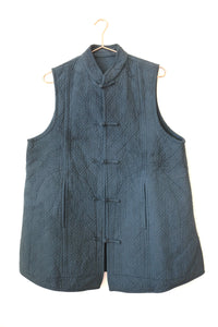 monk wear - embroidered long vest
