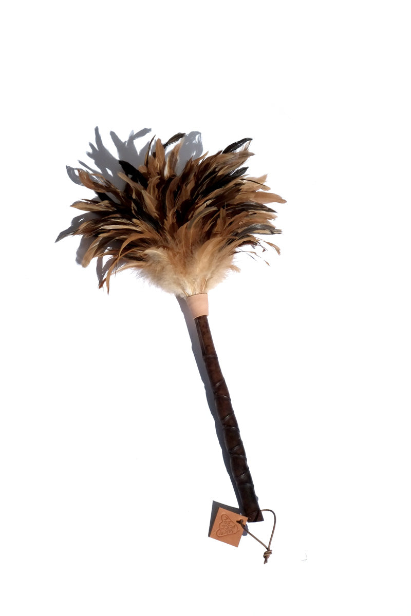 bamboo feather duster - black