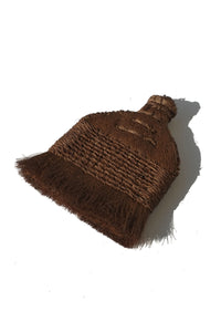 palm fiber brush with handle