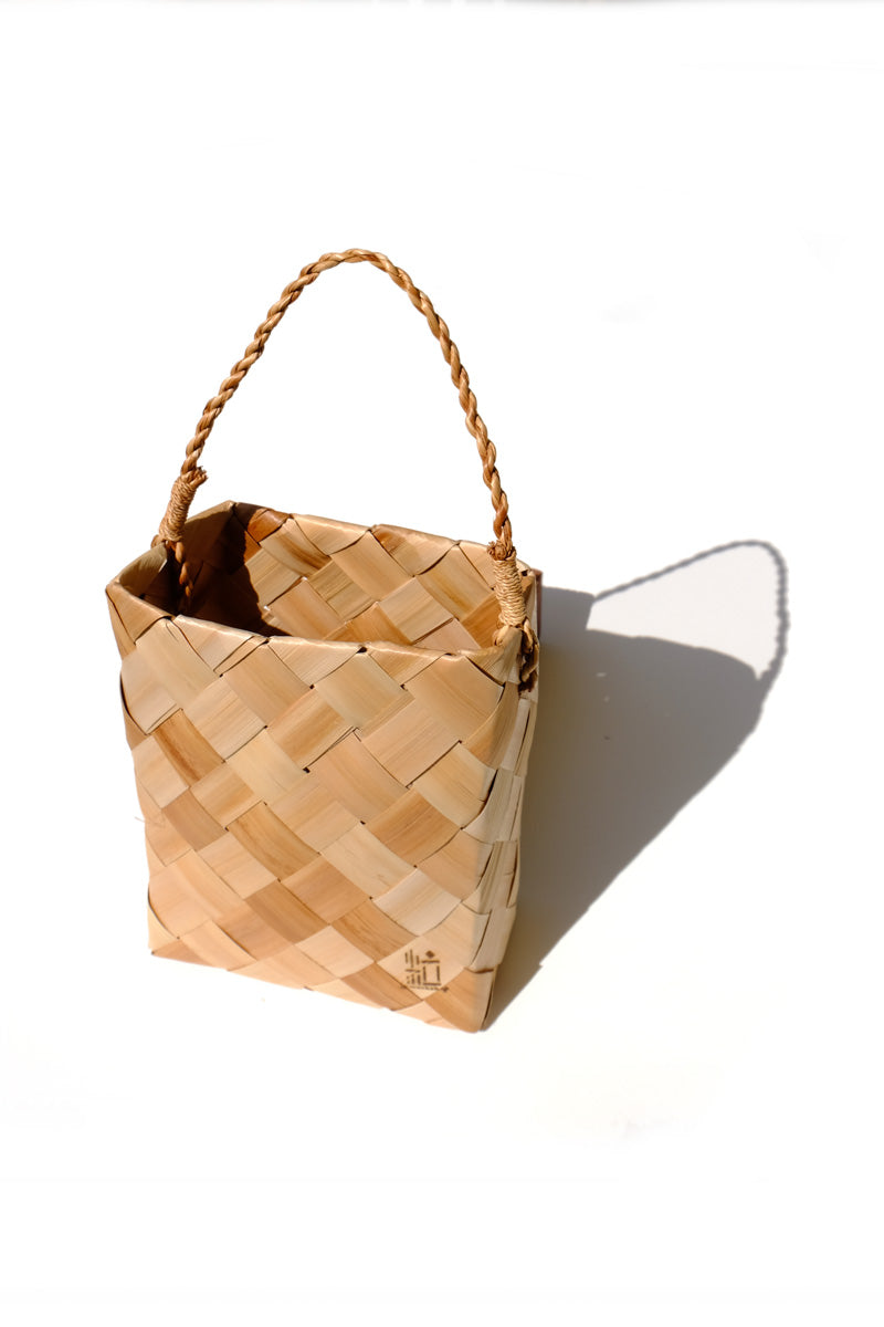 shell ginger woven basket - rectangle