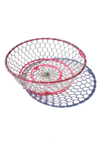 handwoven metal wire basket