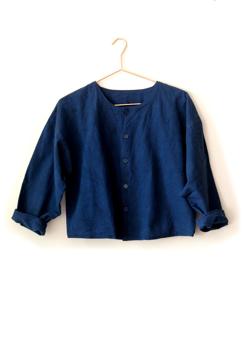 huichung - cropped linen jacket