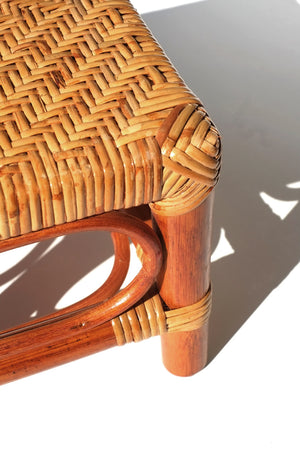 rattan stool - short square