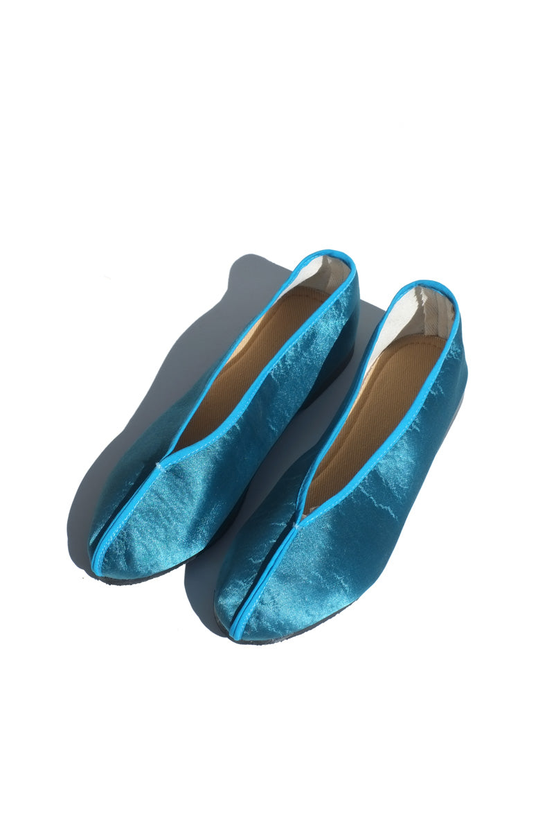 theater shoes - solid textured turquoise