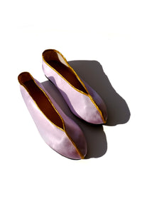 theater shoes - lavender and gold