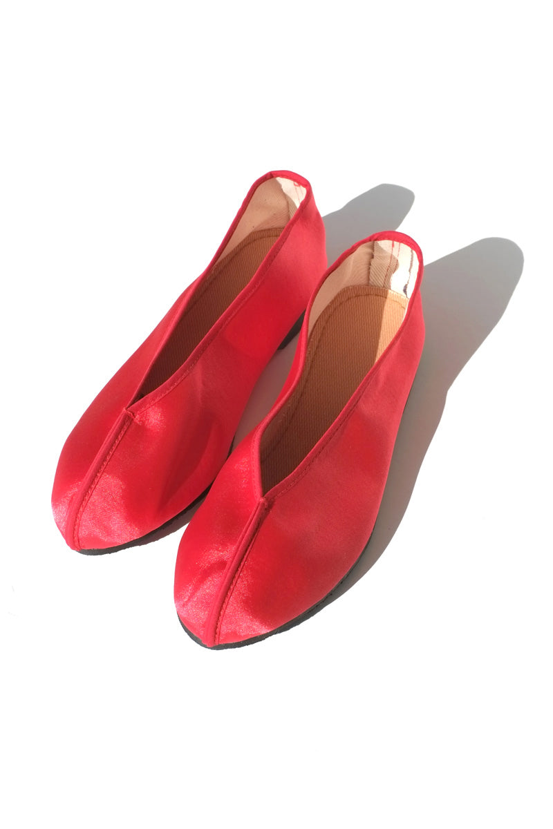 theater shoes - solid red