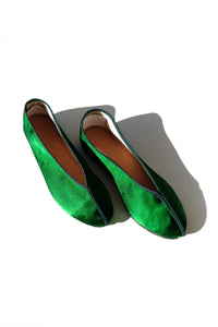 theater shoes - solid green
