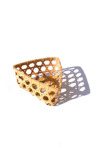 bamboo basket - triangle