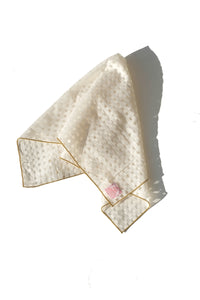 Handkerchief - cream and sheer checkered