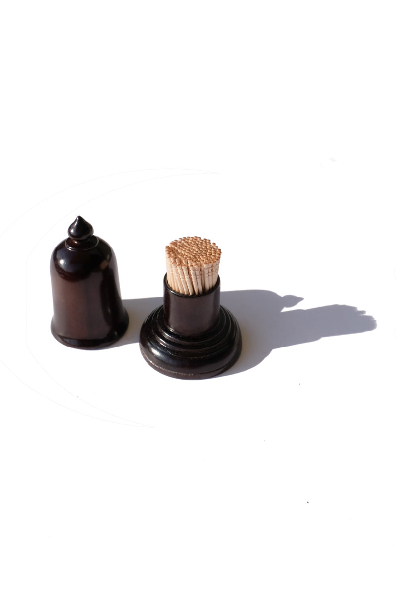 bell wooden toothpick holder