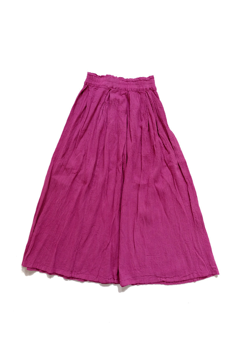 huichung - pleated cotton skirt