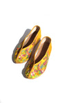embroidered theater shoes - yellow