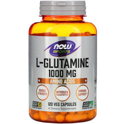 Now, L-Glutamine, 1,000 mg, 120 Veg Capsules