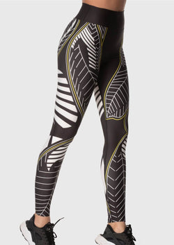 LEGGINGS - Black with White lines