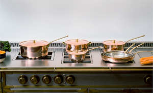 Complete Copper Cookware 11 piece set polished finish