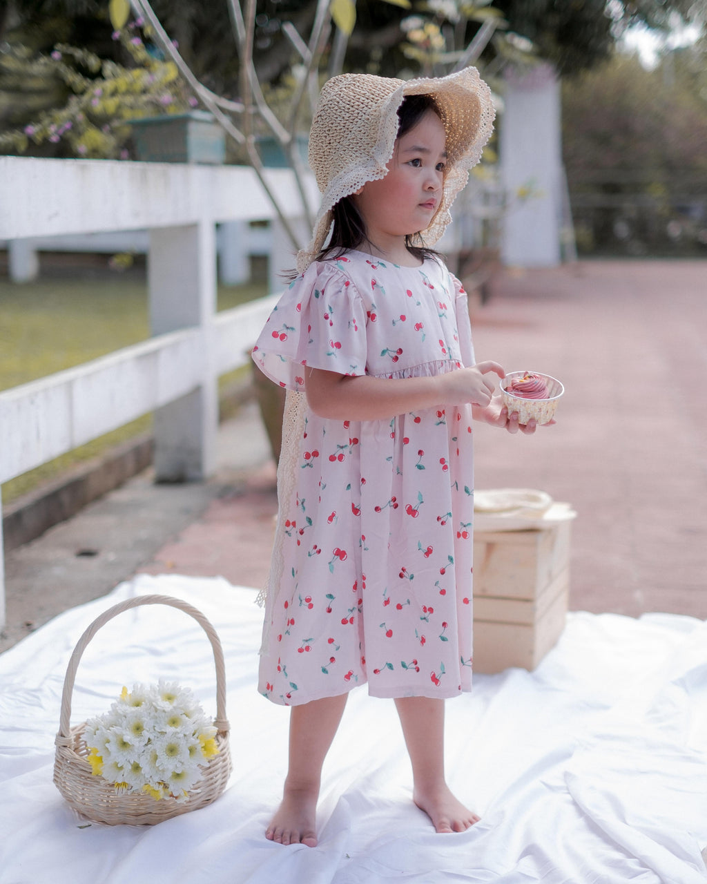 Cupie Doll Dress - pink cherry
