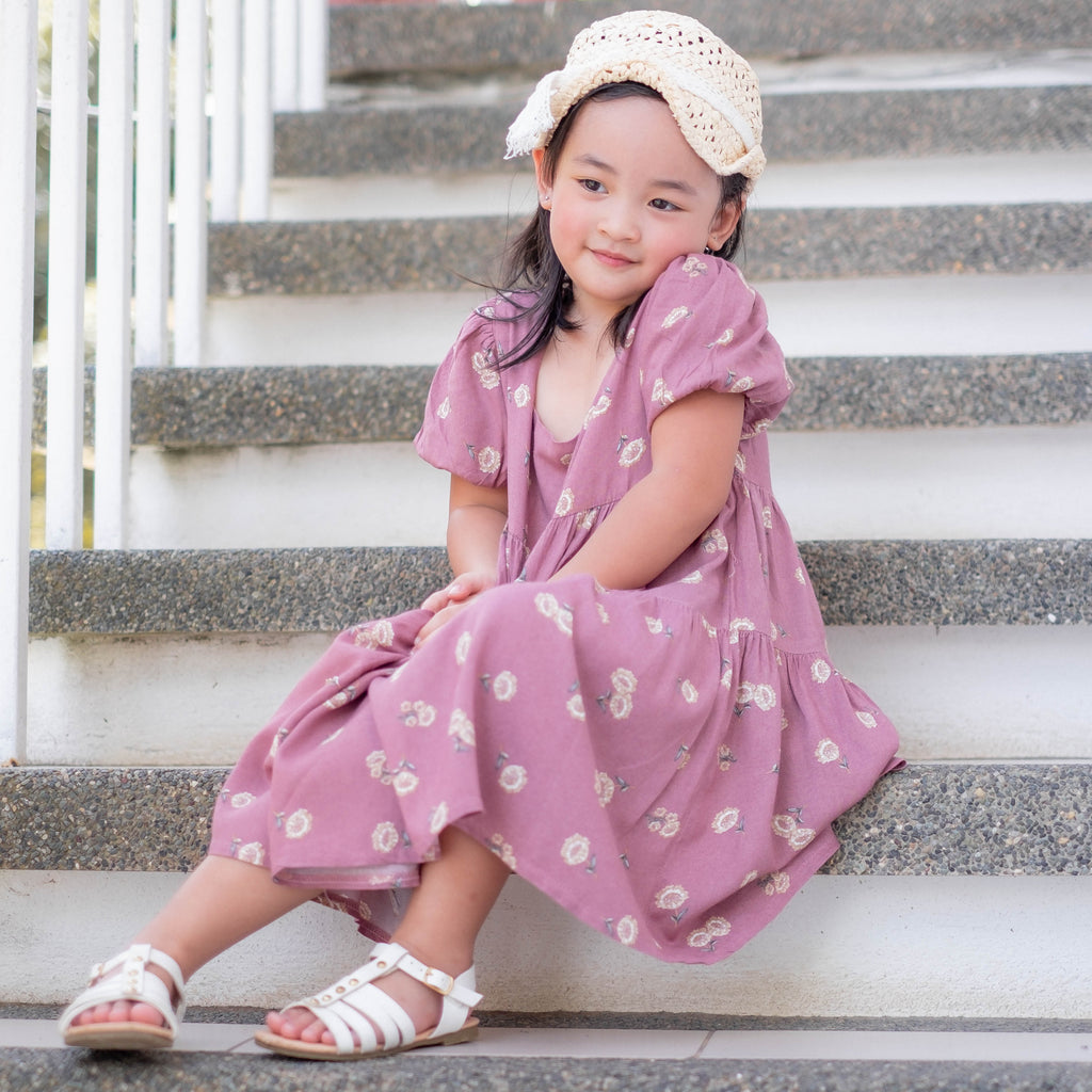 The Eliza Dress - deep magenta Kids