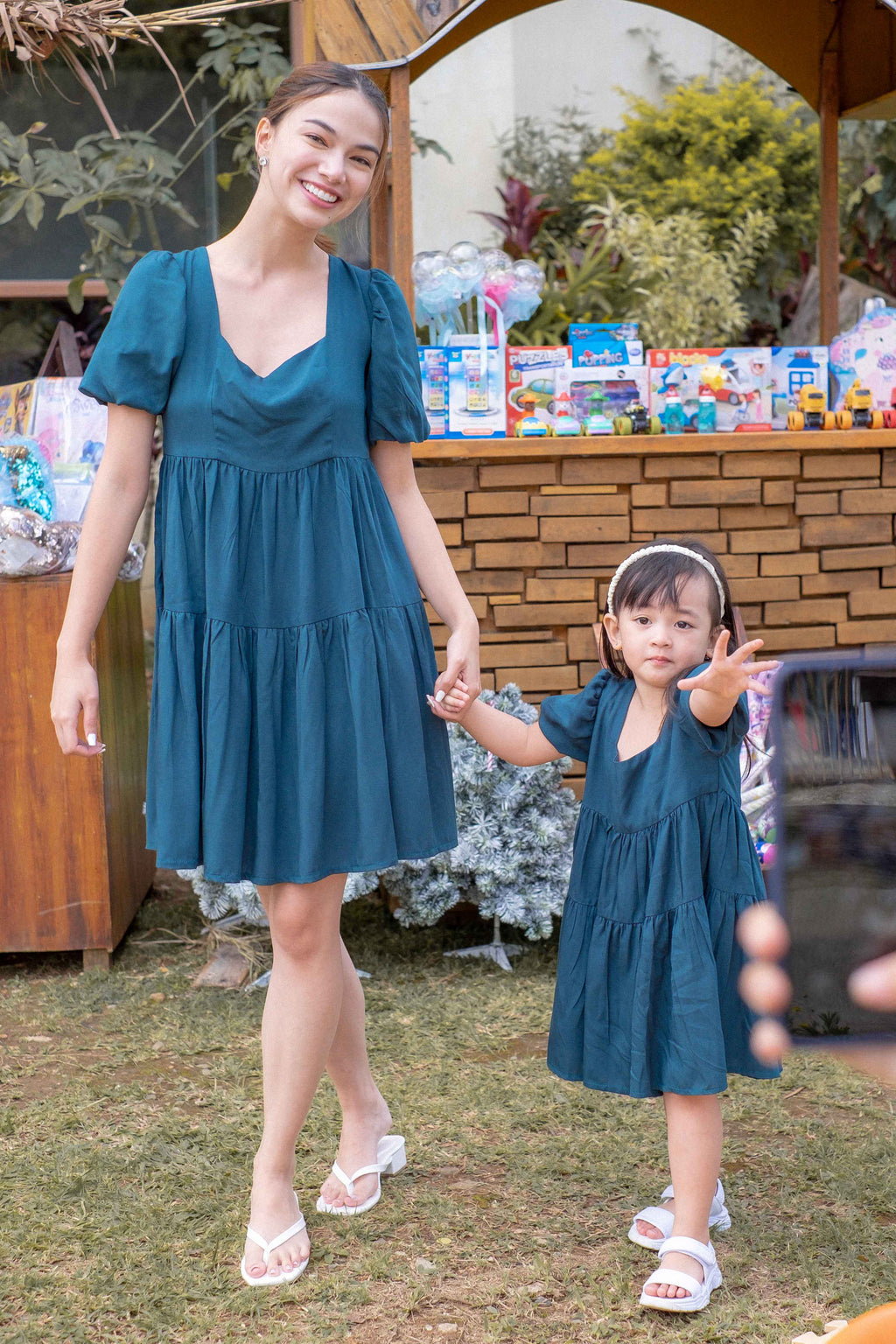 The Eliza dress - Emerald green (Women and kids matching outfits are sold separately)