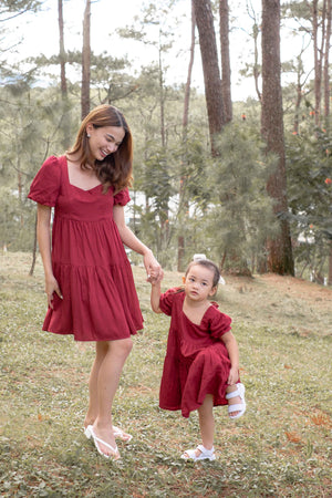 The Eliza dress - Red (Women and kids matching outfits are sold separately)