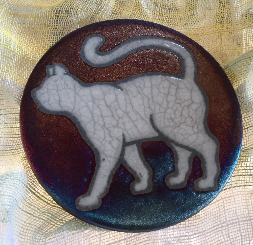 Raku Coaster - Happy Cat