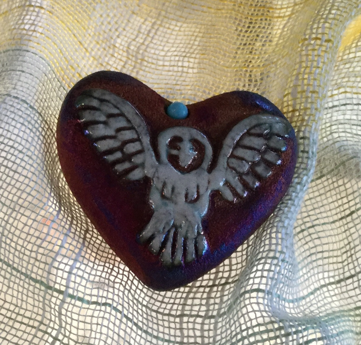 Raku Heart Stones - Click on image to see assortment