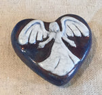 Raku Heart Stones - Angel