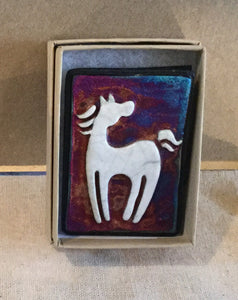 Raku  Small Wall Art - Horse