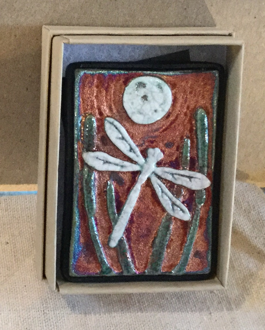 Raku  Small Wall Art - Dragonfly