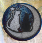 Raku Coaster - Cats and Moon