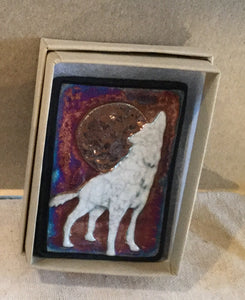Raku  Small Wall Art - Wolf