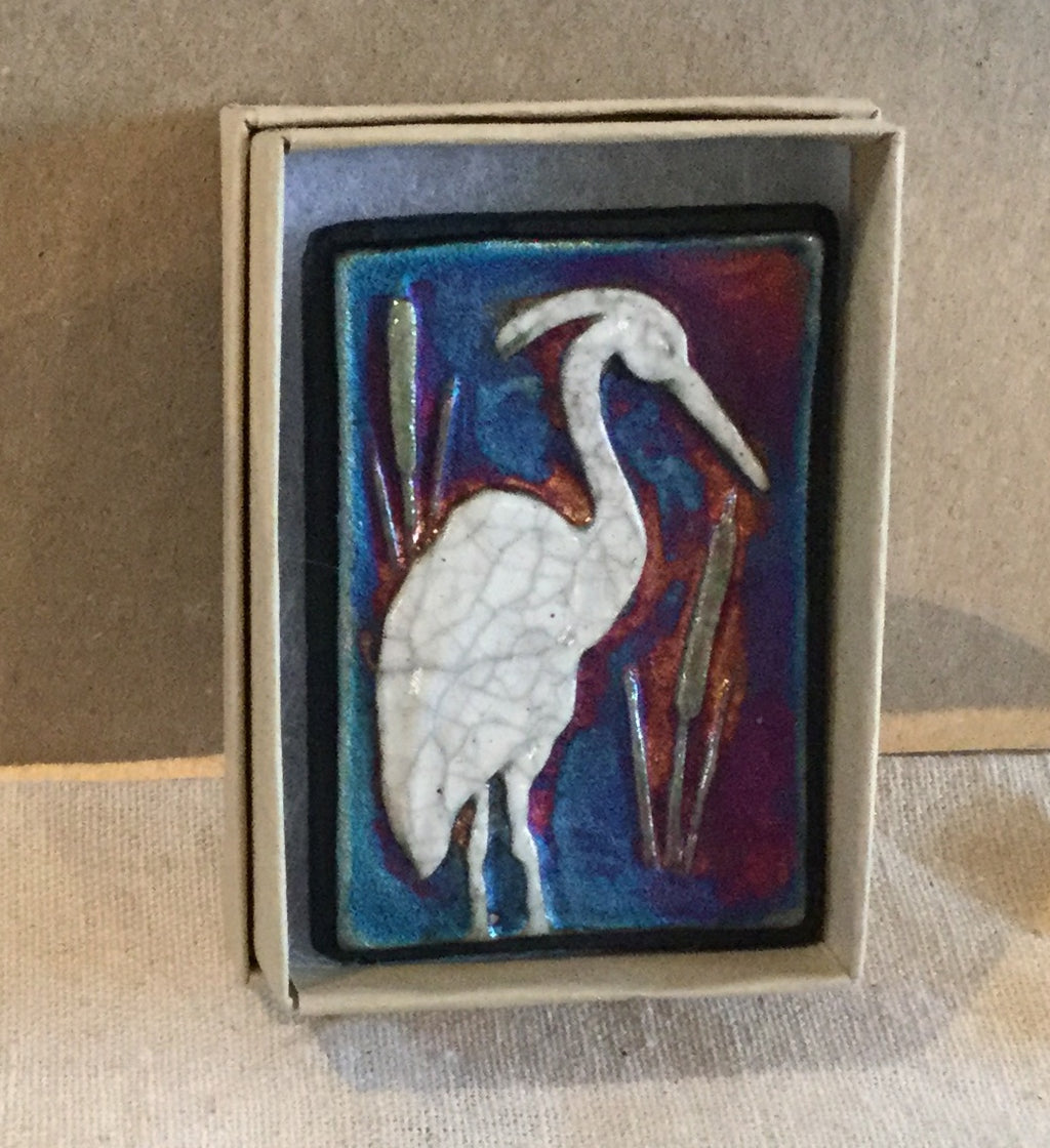 Raku  Small Wall Art - Heron