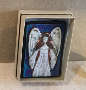 Raku Small Wall Art - Angel