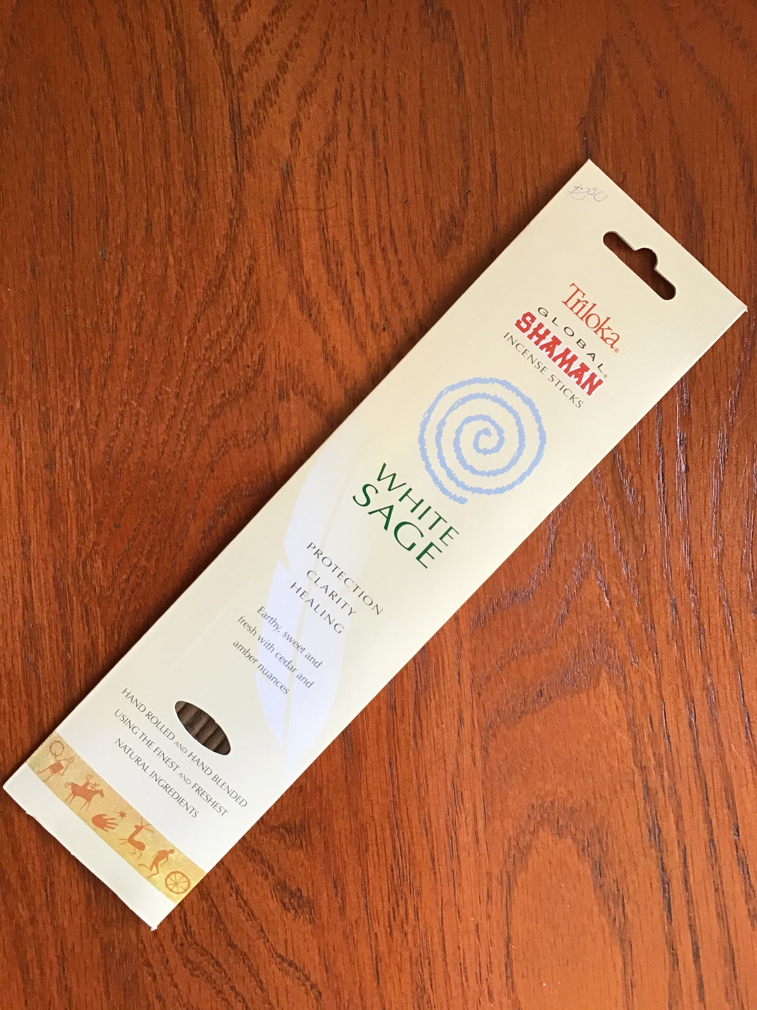 Triloka Global Shaman Incense Sticks- White Sage