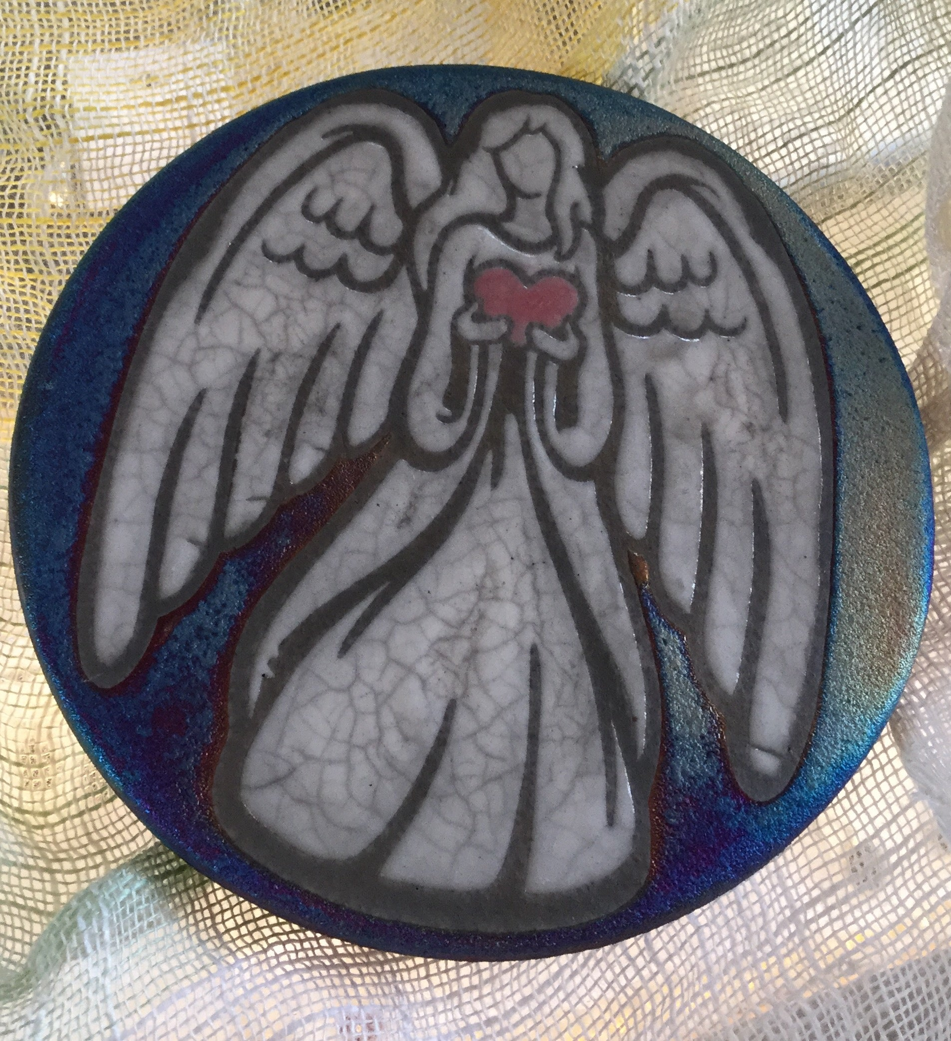 Raku Coaster - Heart Angel