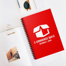 Load image into Gallery viewer, E-Commerce Day Spiral Notebook - Ruled Line (North America Shipping only)