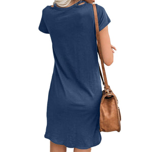 Salty Mermaid Twist T-Shirt Dress