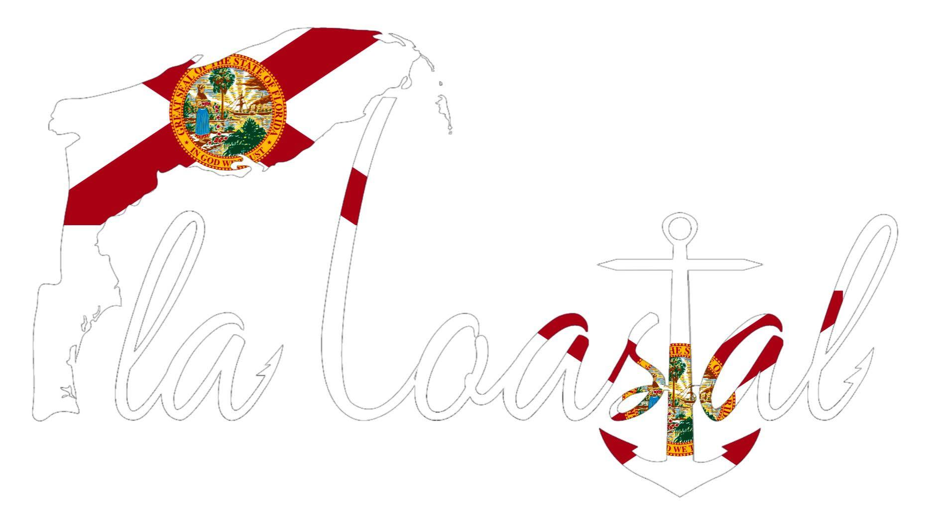 flacoastal - Florida Flag Vinyl Decal