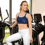 flacoastal - Coastal Crue Nauti Blue Sports bra