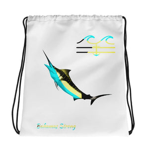 flacoastal - Bahamas Strong Marlin Edition Drawstring bag