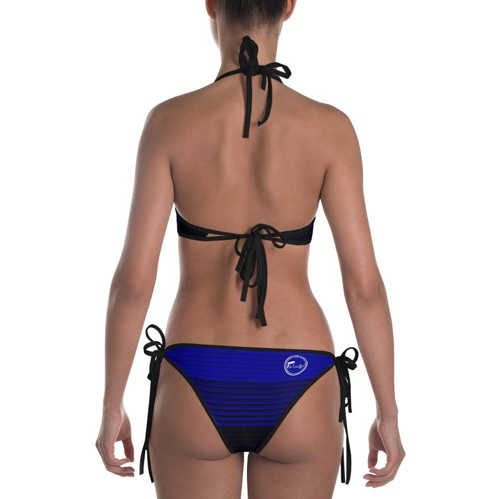 flacoastal - Fla Coastal Deep Blue Striped Reversible Bikini