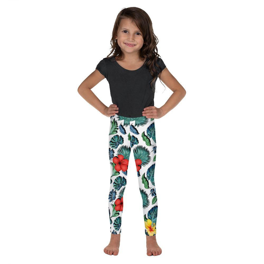 flacoastal - Tropical Hibiscus Kid's Leggings