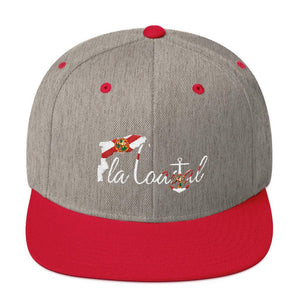 flacoastal - Fla Coastal Florida Pride Flat Bill Snap Back