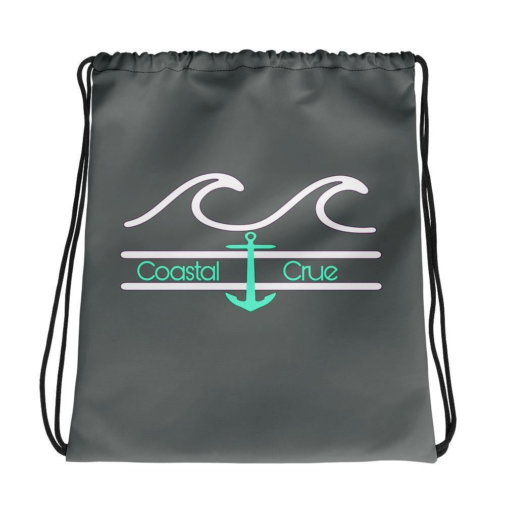 flacoastal - Coastal Crue Grey Drawstring bag