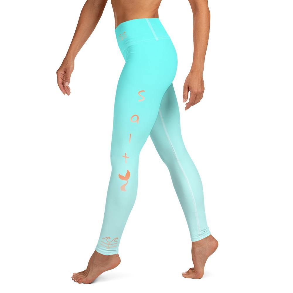 flacoastal - Salty Mermaid Performance Leggings (Aqua)