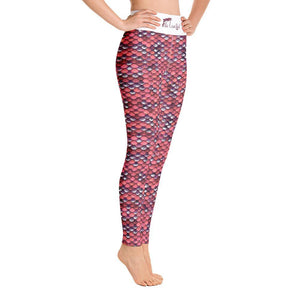 flacoastal - Fla Coastal Mermazing Full Length High Rise Leggings | Coral
